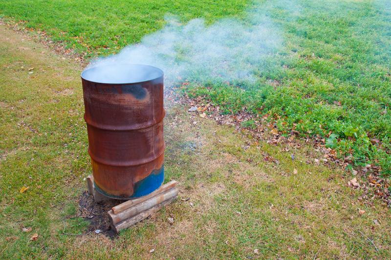 Емкость для сжигания мусора на даче своими руками