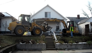 Crews continue excavation work in the Park Hill neighborhood of Louisville, Ky. Photo by Cody Munday