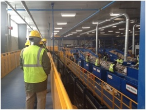 RLA representatives tour the new Rumpke Material Recycling Facility in St. Bernard, Ohio. Photo: Chris Craig