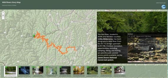 Wild river story map