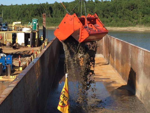 Mississippi River dredge