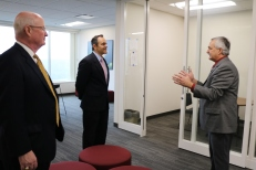 Gov. Bevin tours the 300 building.